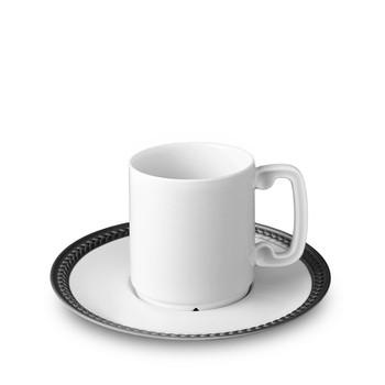L'Objet Soie Tressée Espresso Cup + Saucer