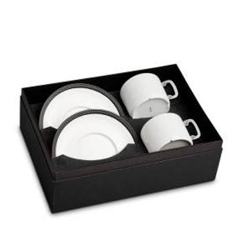 L'Objet Soie Tressée Tea Cup + Saucer (Set of 2)