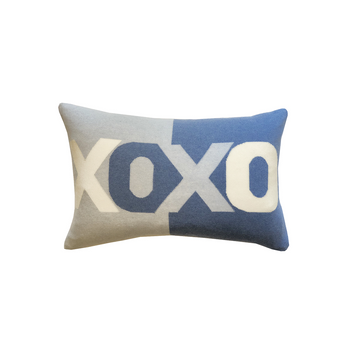 Rani Arabella XOXO Light Blue Pillow - 16x24
