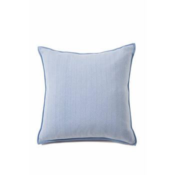 Rani Arabella Herringbone Pillow - Indigo/Ivory - 21x21