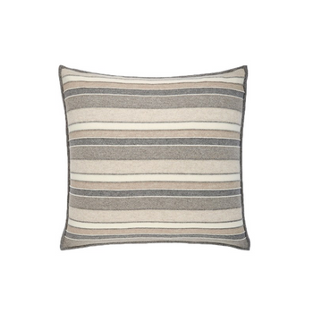 Rani Arabella Cashmere Stripes Pillow - Ivory/Beige - 21x21