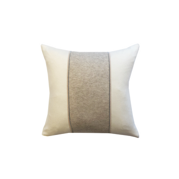 Rani Arabella Knitted Two-Tone Pillow with Jewel Detail - 17x17