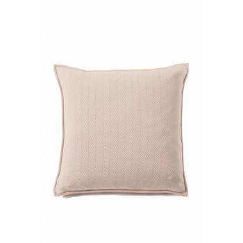 Rani Arabella Herringbone Pillow - Ivory/Taupe - 21x21