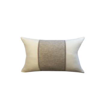 Rani Arabella Knitted Two-Tone Pillow with Jewel Detail - 12x18