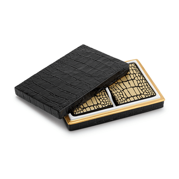 L'Objet Crocodile Box with Playing Cards (2 Decks)