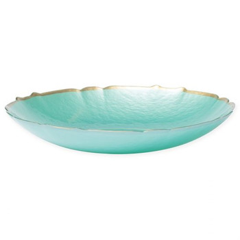 Vietri Pastel Glass Aqua Bowl