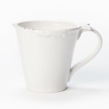 Vietri Lastra Fish White Mug