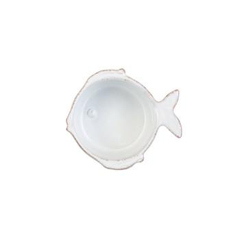 Vietri Lastra Fish White Condiment Bowl