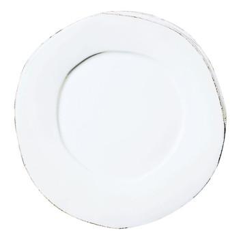 Vietri Lastra White American Dinner Plate