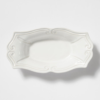 Vietri Incanto Stone White Baroque Medium Au Gratin