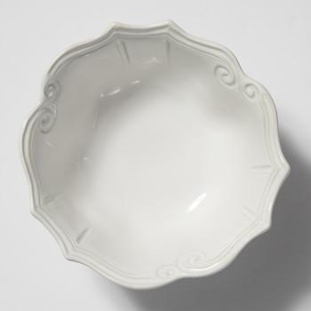 Vietri Incanto Stone White Baroque Medium Serving Bowl