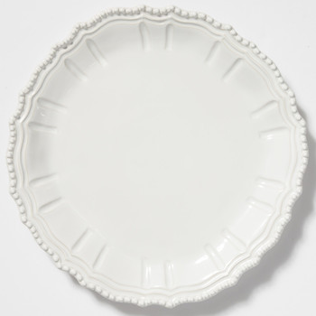 Vietri Incanto Stone White Baroque Round Platter