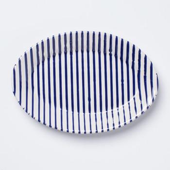 Vietri Stripe Small Oval Platter