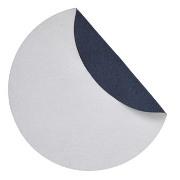 Mode Living Chic Denim Round Placemats - Reversible - Set of 4