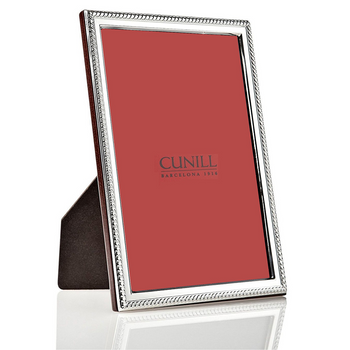 Cunill Sterling Silver Rope Narrow Picture Frame