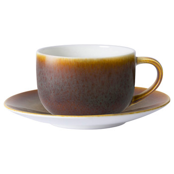 Royal Crown Derby Flamed Caramel Cappuccino Saucer