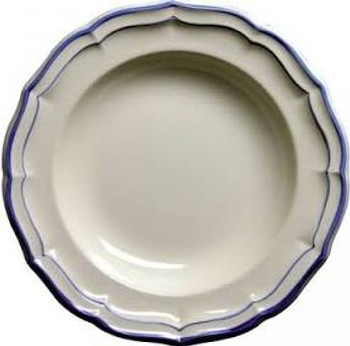 Gien Filet Bleu Rimmed Soup Plate