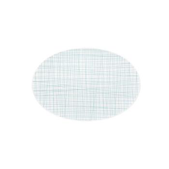 Rosenthal Mesh Lines Aqua Small Oval Platter