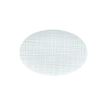 Rosenthal Mesh Lines Aqua Large Oval Platter