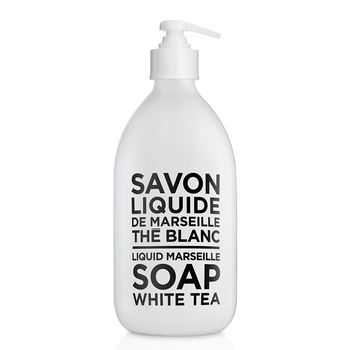 Compagnie de Provence Liquid Marseille Soap White Tea - Glass Bottle