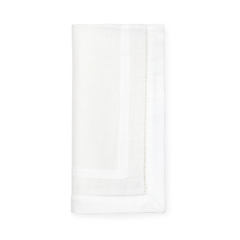 Sferra Tipton White Dinner Napkins - Set of 4 - 20x20