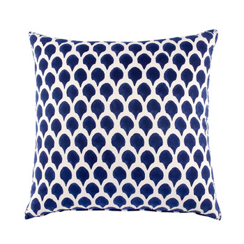 John Robshaw Nadole Indigo Decorative Pillow with Insert - 26x26