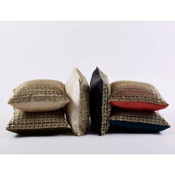 Ann Gish Metallic Mosaic Pillow