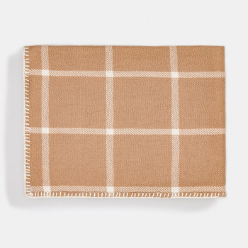Alicia Adams Graydon Throw Camel/Ivory