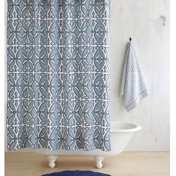 John Robshaw Khoma Shower Curtain - Slate