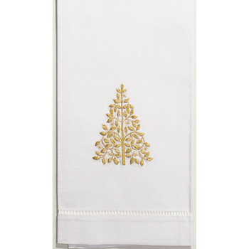 Henry Handwork Mod Tree Guest Towel - Gold