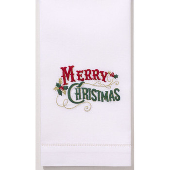 Henry Handwork- Merry Christmas Guest Towel