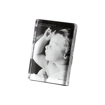 Simon Pearce Woodbury Vertical Photo Block - 6x4""