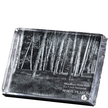 "Simon Pearce Woodbury Horizontal Photo Block - 5x7"""
