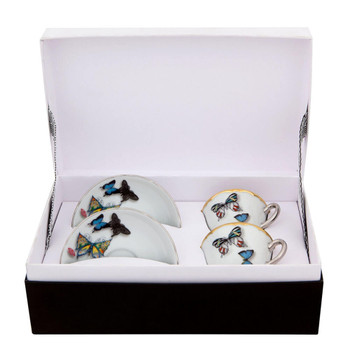 Vista Alegre Christian Lacroix Butterfly Parade Espresso Cups & Saucer - Set of 2
