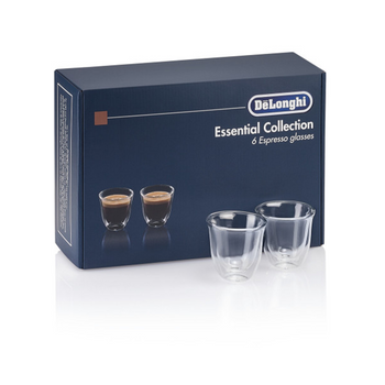 De'Longhi Gift Set 6 Espresso Double Wall Thermal Glasses