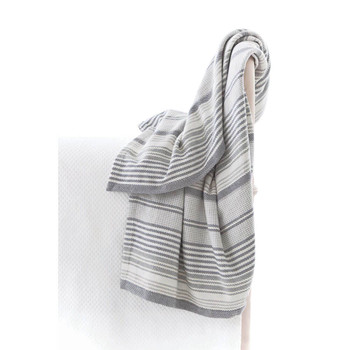 Dash & Albert Gradation Ticking Woven Cotton Throw