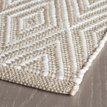 Dash & Albert Diamond Platinum/White Indoor/Outdoor Rug - 2x3
