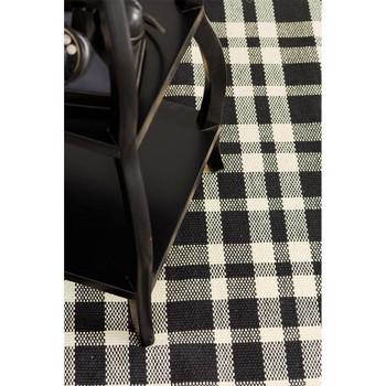 Dash & Albert Tattersall Black Indoor/Outdoor Rug - 2x3