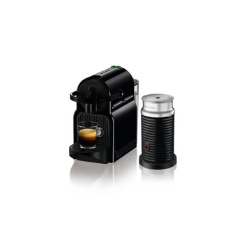 Nespresso Inissia Espresso Maker by De'Longhi with Aeroccino - Black