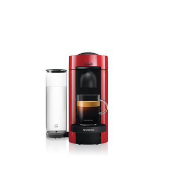 Nespresso Vertuo Plus Coffee and Espresso Maker by De'Longhi - Red
