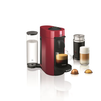 Nespresso Vertuo Plus Coffee and Espresso Maker by De'Longhi with Aerocinno - Red