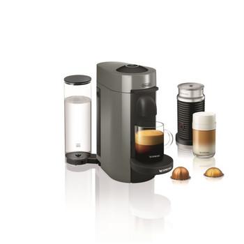 Nespresso Vertuo Plus Coffee and Espresso Maker by De'Longhi with Aerocinno - Gray