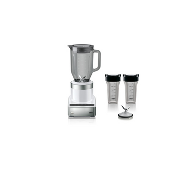 Braun PureMix Power Blender with Thermal Resistant Glass Jug & Smoothie2Go Blending Cups - JB7352