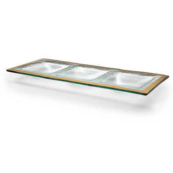 Annieglass Roman Antique 3 Section Tray