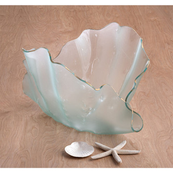 Annieglass Frosted Clamshell Sculpture
