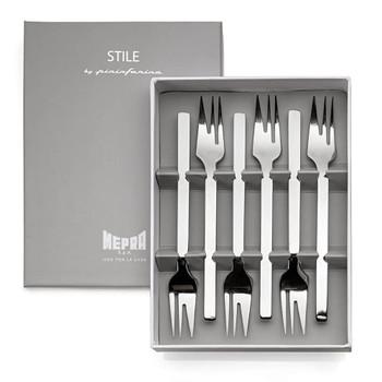 Mepra Stile S/6 Appetizer Cake forks