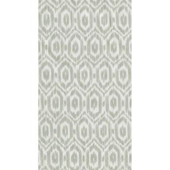 Caspari Amala Ikat Guest Towel - Grey