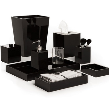 Mike & Ally Black Ice Bath Accessories Collection