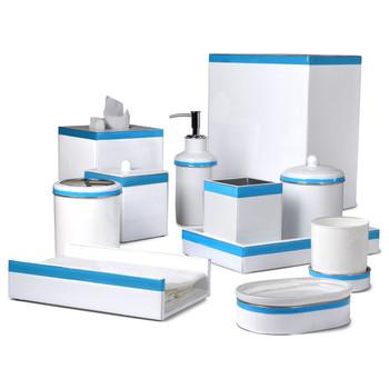 Mike & Ally Regatta Tall Square Container - Blue