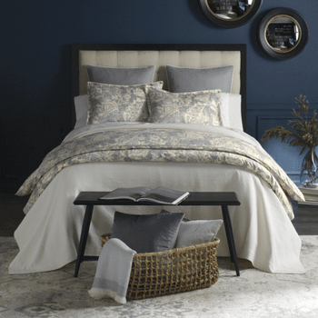 Peacock Alley Remi Duvet Cover - Pewter